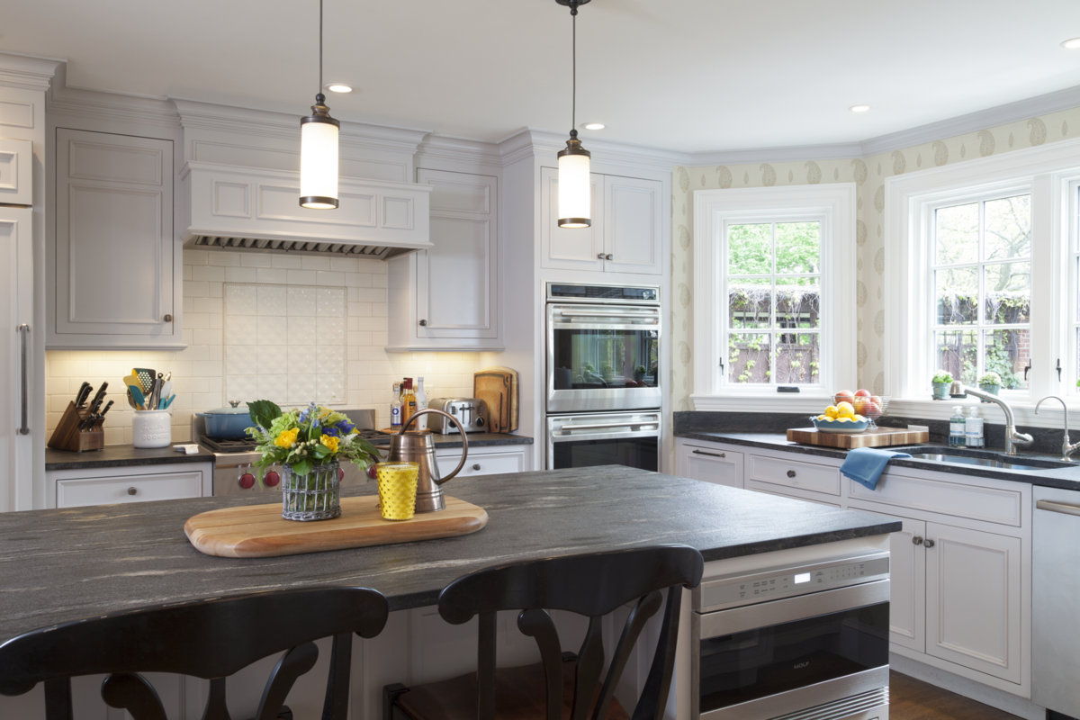 Custom finishes and stone countertops